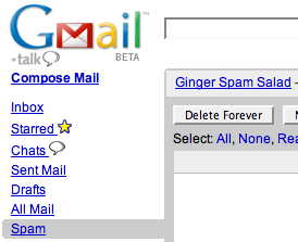 More GMail Spam Recipes