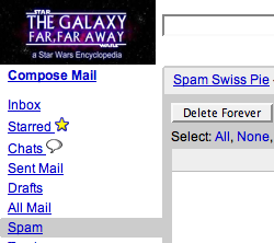 And Even More GMail Spam Recipes